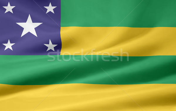 Flag of Sergipe - Brasil Stock photo © joggi2002