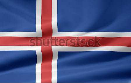 Flag of Iceland Stock photo © joggi2002