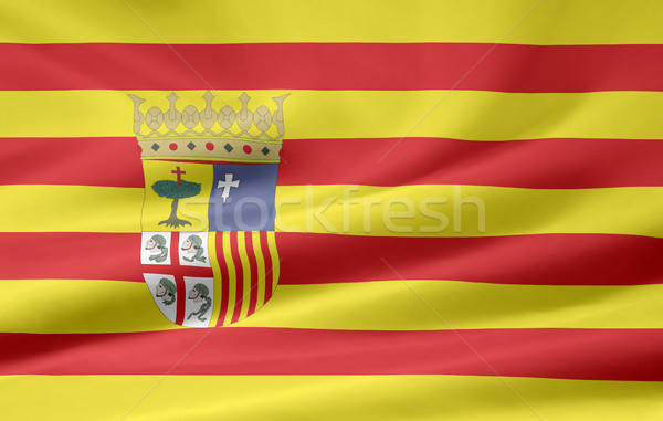 Flag of Aragon - Spain Stock photo © joggi2002