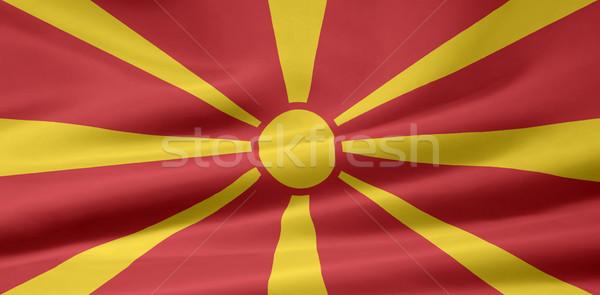 Bayrak Makedonya bez afiş örnek simge Stok fotoğraf © joggi2002