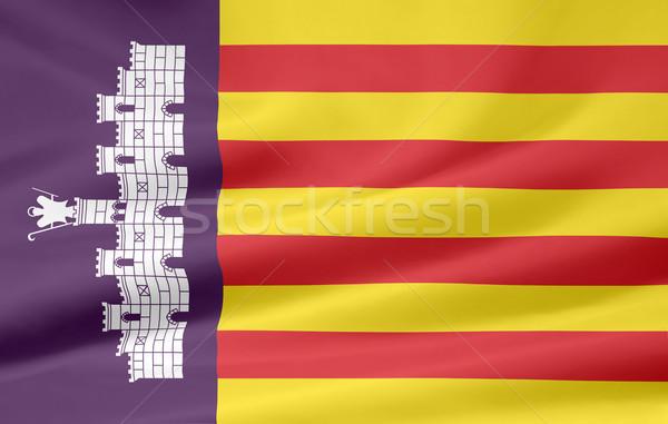 Flag of Mallorca - Spain Stock photo © joggi2002