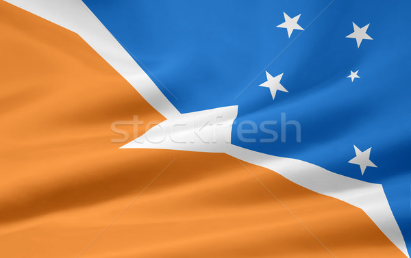 Flag of Tierra del Fuego - Argentina Stock photo © joggi2002