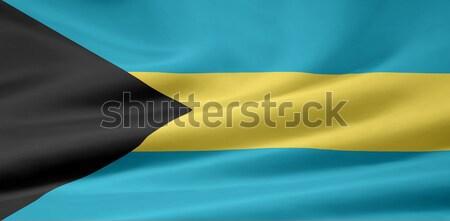 Flag of Bahamas Stock photo © joggi2002