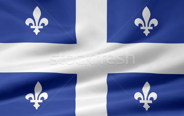 Сток-фото: флаг · Квебек · Канада · город · ветер · стране