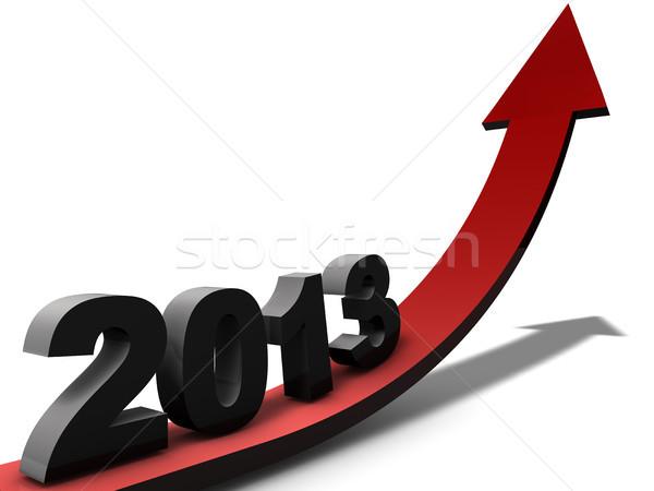 Kilátás 2013 pozitív év pénzügy bank Stock fotó © joggi2002