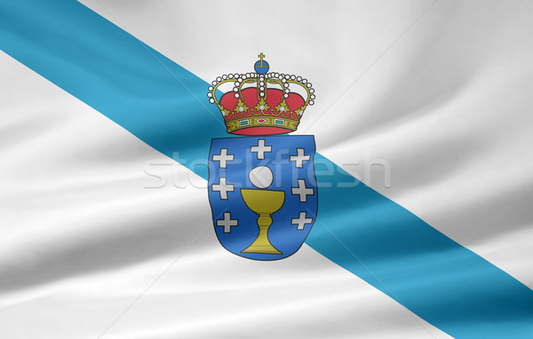 Vlag galicië Spanje Europa textiel unie Stockfoto © joggi2002