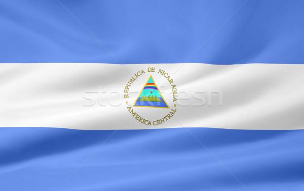 élevé résolution pavillon Nicaragua drap textiles Photo stock © joggi2002
