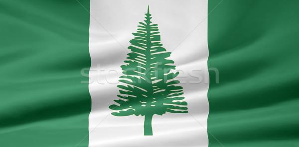 Magas döntés zászló Norfolk sziget vakáció Stock fotó © joggi2002