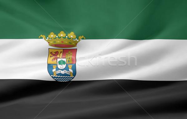 Zászló Spanyolország Európa textil spanyol arculat Stock fotó © joggi2002