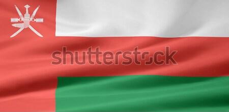 Yüksek karar bayrak Umman rüzgâr bez Stok fotoğraf © joggi2002