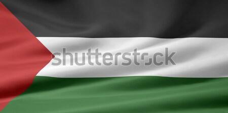 Yüksek karar bayrak ülke bez afiş Stok fotoğraf © joggi2002