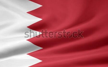 Bandeira Bahrein pano bandeira símbolo Foto stock © joggi2002