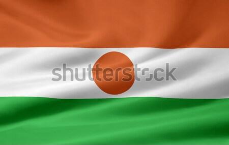 Zászló Niger Afrika ruha szalag szimbólum Stock fotó © joggi2002