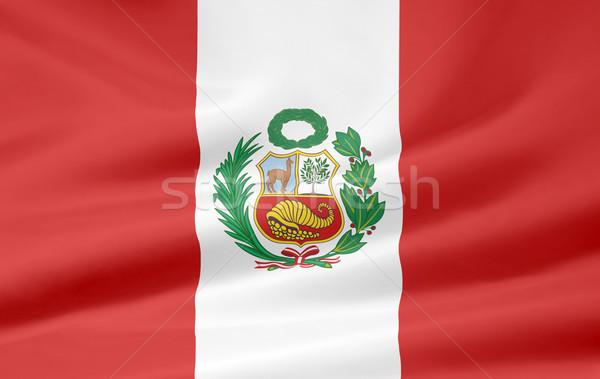 Magas döntés zászló Peru ruha Amerika Stock fotó © joggi2002