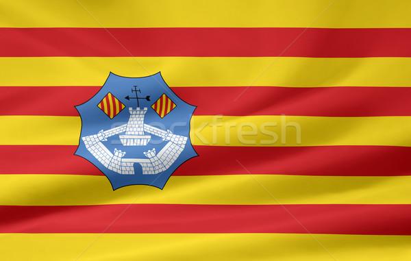 Vlag land doek textiel banner Madrid Stockfoto © joggi2002