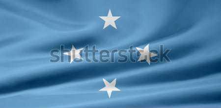Bandeira Micronésia pano bandeira símbolo Foto stock © joggi2002