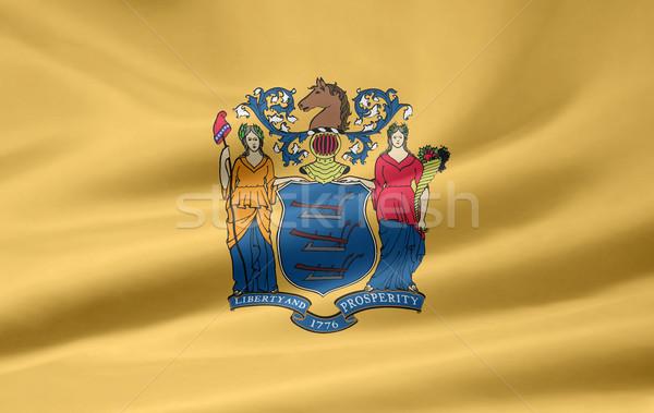 Bayrak New Jersey Yıldız kırmızı beyaz ücretsiz Stok fotoğraf © joggi2002