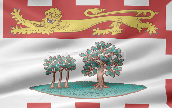 Bandera isla del príncipe eduardo viento país tela textiles Foto stock © joggi2002