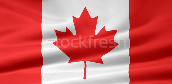 Zászló Kanada ruha Amerika szalag szövetség Stock fotó © joggi2002