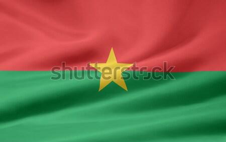 Flag of Burkina Faso Stock photo © joggi2002