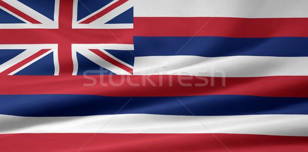 Zászló Hawaii csillagok piros fehér szabad Stock fotó © joggi2002