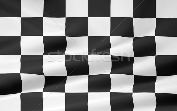 Yarış bayrak spor hızlandırmak siyah beyaz Stok fotoğraf © joggi2002