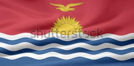 Magas döntés zászló Kiribati sziget Stock fotó © joggi2002