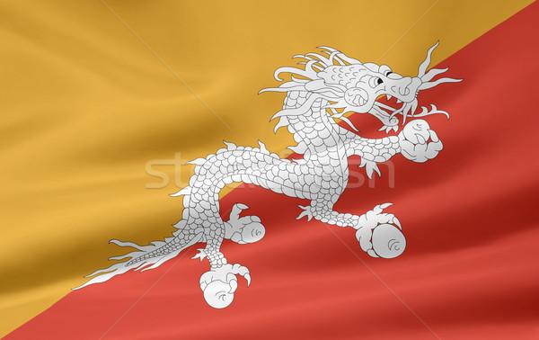 Bayrak ülke Asya bez afiş örnek Stok fotoğraf © joggi2002