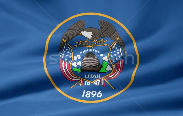 Bayrak Utah Yıldız mavi beyaz ücretsiz Stok fotoğraf © joggi2002