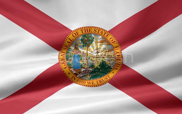 Zászló Florida csillagok piros fehér szabad Stock fotó © joggi2002