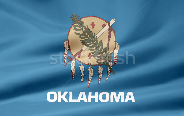 Bandeira Oklahoma estrelas azul vermelho branco Foto stock © joggi2002