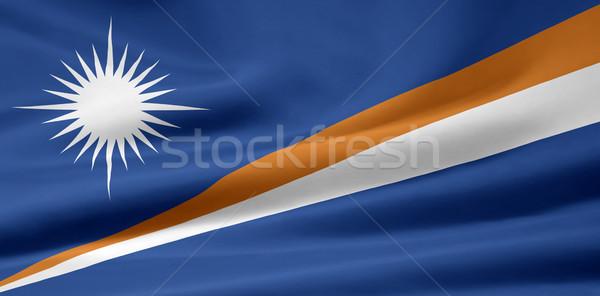 Bayrak bez tekstil afiş Mikronezya Stok fotoğraf © joggi2002