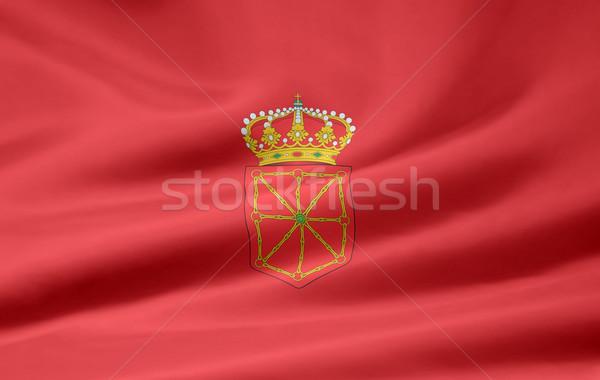 Grande bandeira Espanha vento europa têxtil Foto stock © joggi2002
