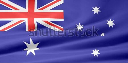 Bandeira Austrália branco pano comunidade têxtil Foto stock © joggi2002