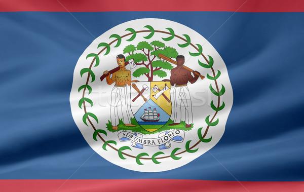 Stock fotó: Zászló · Belize · ruha · Amerika · szalag · illusztráció
