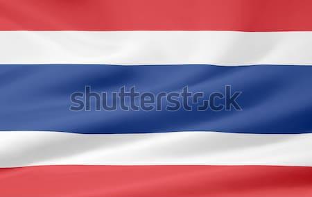 Zászló Costa Rica ruha textil Amerika illusztráció Stock fotó © joggi2002