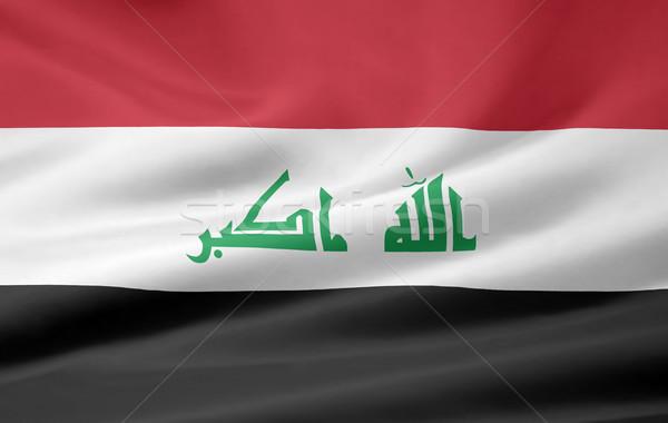 Hoog vlag Irak doek banner Stockfoto © joggi2002