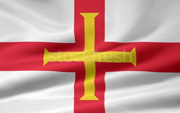 Zászló vidék ruha textil szalag szimbólum Stock fotó © joggi2002