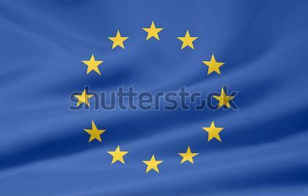 Bayrak Avrupa bez afiş sendika örnek Stok fotoğraf © joggi2002