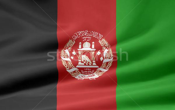Zászló Afganisztán Ázsia ruha szalag szimbólum Stock fotó © joggi2002