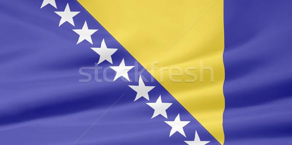 Flag of Bosnia Herzegovina Stock photo © joggi2002