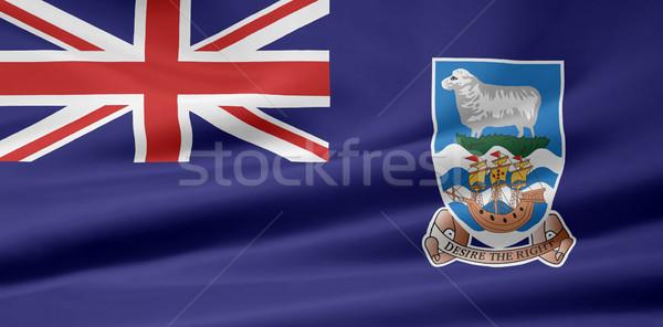 Zászló Falkland-szigetek ruha textil szalag illusztráció Stock fotó © joggi2002