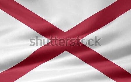Bayrak Alabama Yıldız kırmızı beyaz ücretsiz Stok fotoğraf © joggi2002