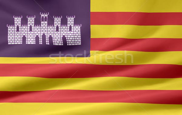 Flag of Balearic Islands - Spain Stock photo © joggi2002