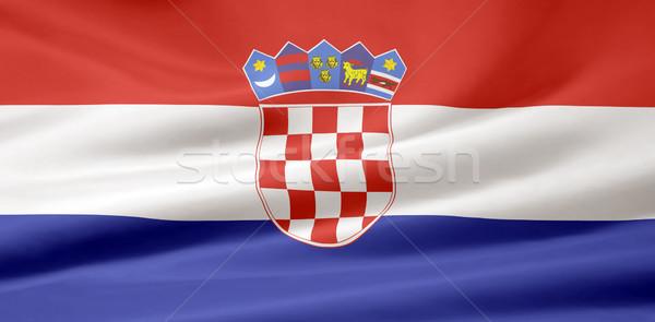 Bandera Croacia Europa país tela banner Foto stock © joggi2002