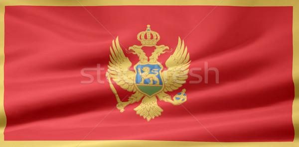 Zászló Montenegró Európa vidék ruha szalag Stock fotó © joggi2002