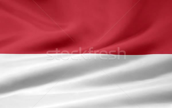 Magas döntés zászló Indonézia ázsiai ruha Stock fotó © joggi2002
