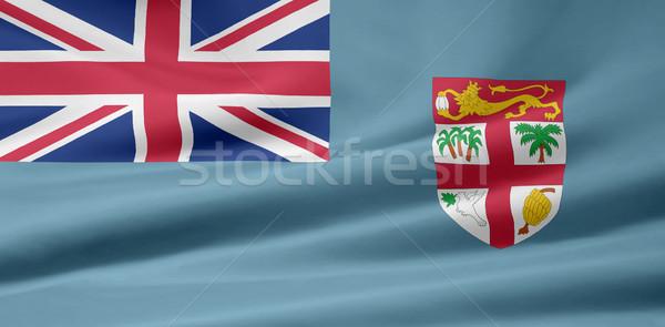 Zászló Fidzsi-szigetek sziget fehér ruha közösség Stock fotó © joggi2002