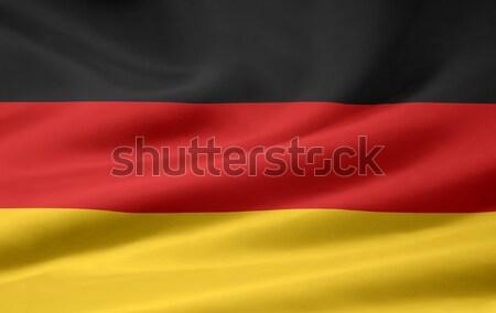 Zászló Németország piros vidék ruha közösség Stock fotó © joggi2002