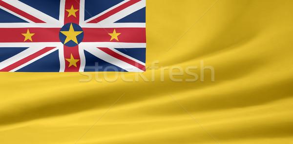 Bayrak ülke bez tekstil yeni afiş Stok fotoğraf © joggi2002